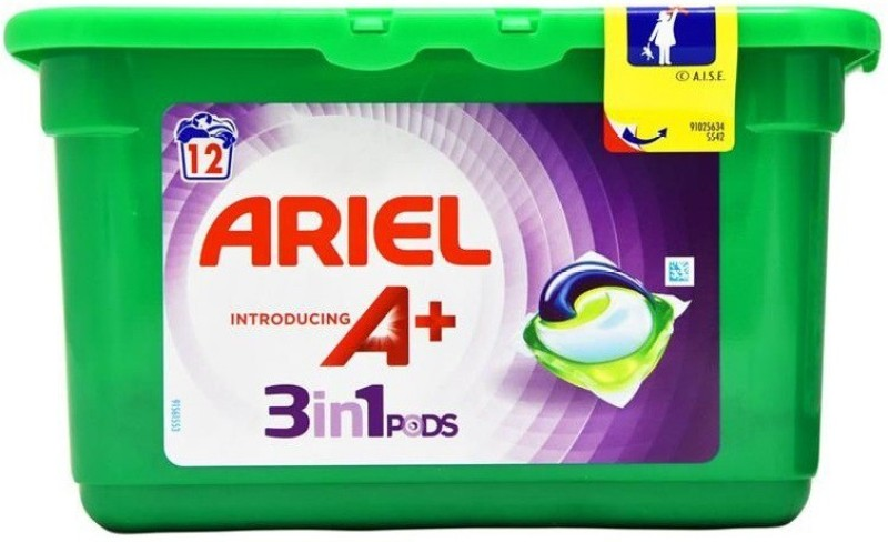 Ariel Introducing A+ 3 In 1 Pods Colours 12's Regular Detergent Pod(12 Pods)
