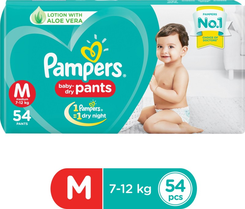 Pampers Baby-Dry Pants Diaper - M(54 Pieces)