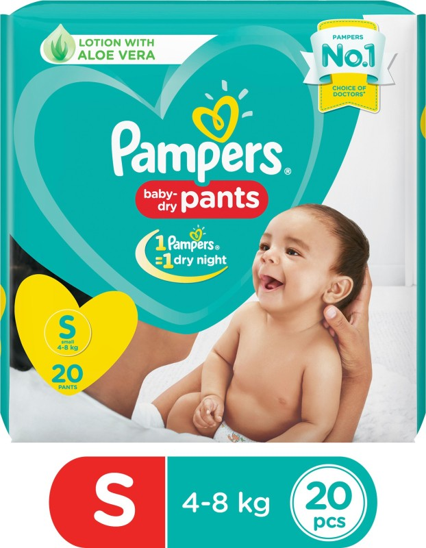 Pampers Baby-Dry Pants Diaper - S(20 Pieces)