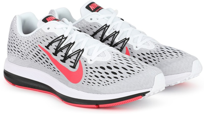 Nike ZOOM WINFLO 5 Running Shoes For Men(Grey, Black, Red)