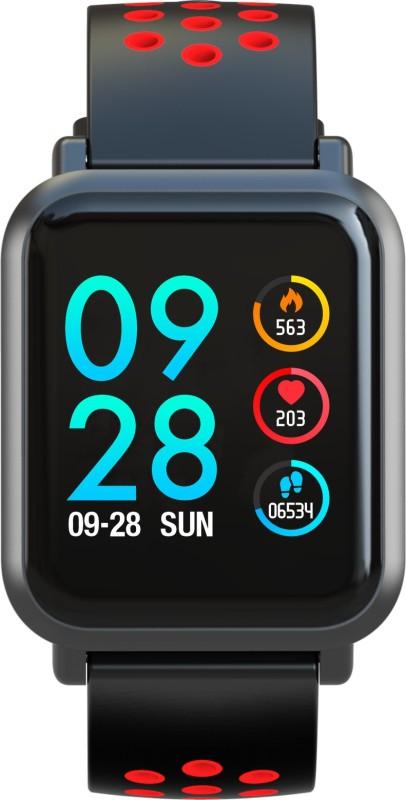 Aqfit Coolfit Smartwatch(Red, Black Strap Regular)