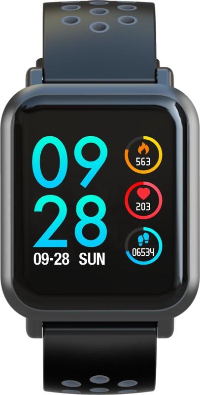 Aqfit Coolfit Smartwatch(Grey, Black Strap Regular)