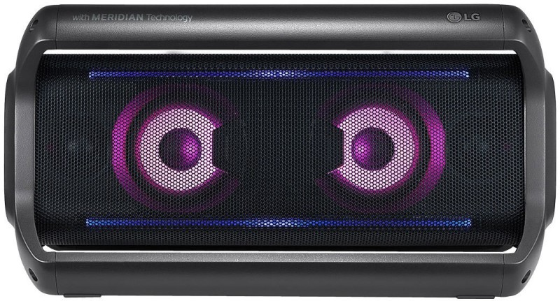 LG XBoom GO PK7 IPX5 Water Resistant 40 W Bluetooth Speaker(Black, Grey, Stereo Channel)
