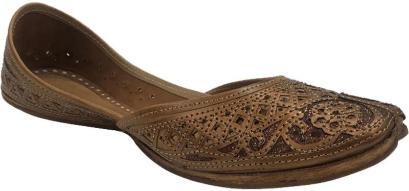 Stop N Style Punjabi Jutti For Ladies Mojari Online Jutti Shoes Punjabi Shoes Indian Jutti Jutis For Women(Brown)