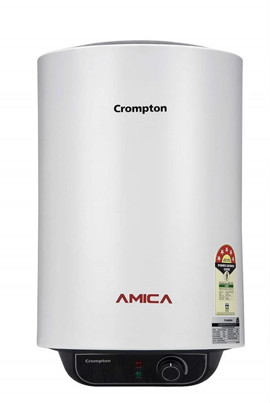 Crompton 25 L Storage Water Geyser (AMICA, White)