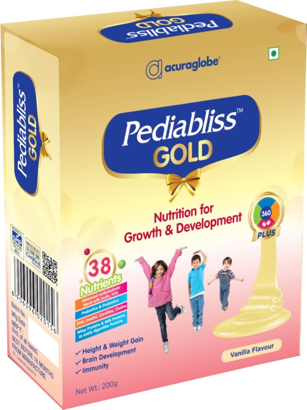 acuraglobe Pediabliss Gold Vanilla Flavored Powder(200 g)