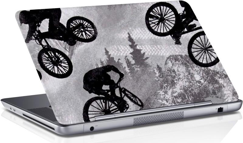 RADANYA Cycling Riding on Mountain Laptop Skin Vinyl Laptop Decal 15.6