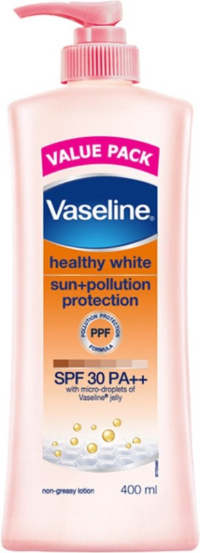 Vaseline Healthy White Sun Plus Pollution Protection SPF 30 PA++ Body Lotion(400 ml)