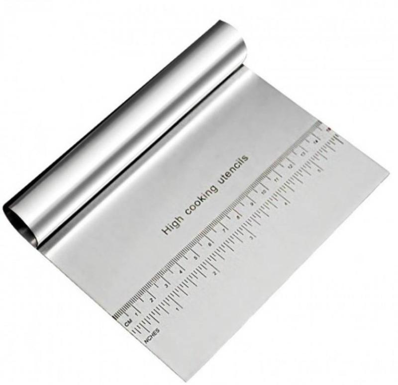 RKPM Cake Scraper S Steel Baking Comb(Stainless Steel Pack of 1)