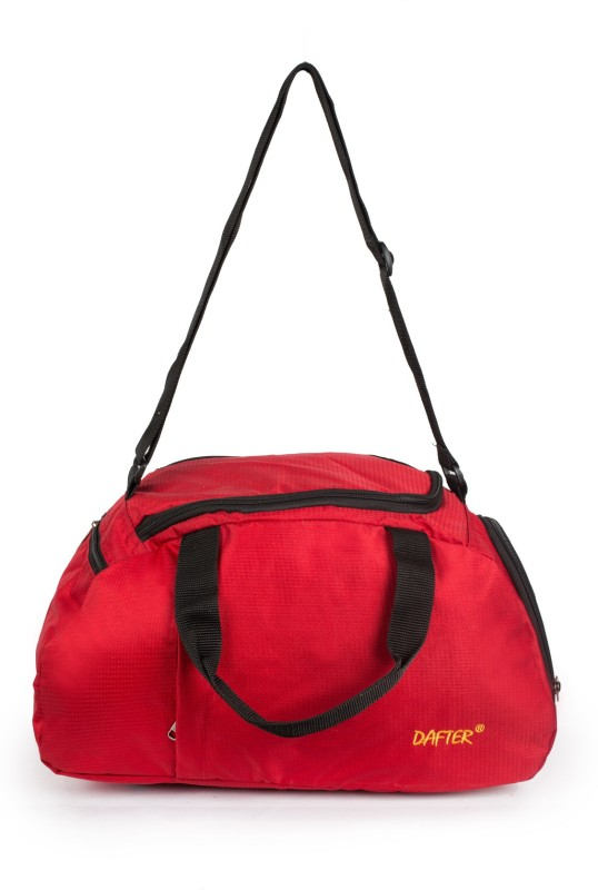 dafter 20 Inch Travelling Gym Bag with Shoes Pocket Gym Bag(Red)