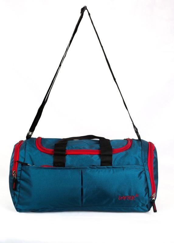 dafter Travelling Gym Bag with Shoes Pocket Gym Bag(Black)