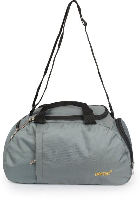 dafter 20 Inch Travelling Gym Bag with Shoes Pocket Gym Bag(Grey)