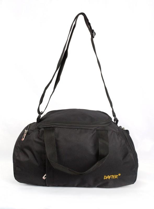 dafter 20 Inch Travelling Gym Bag with Shoes Pocket Gym Bag(Black)