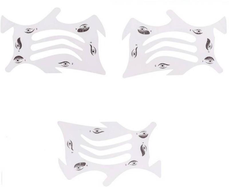 YUGAM Eyeliner stencils eye shadow eyebrow stencils mascara stamps Eyebrow Stencil(3)