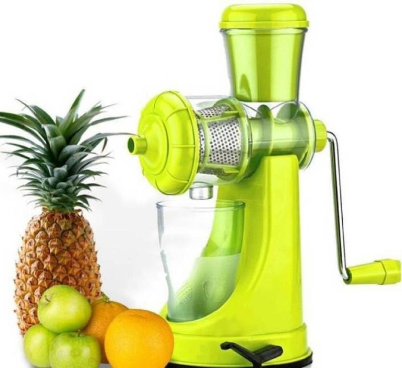 Tryviz Fruit And Vegetable Juicer Plastic Hand Juicer(Multicolor Pack of 1)