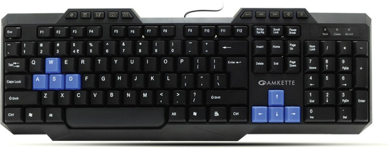 Amkette Xcite Neo Mouse & Wired USB Laptop Keyboard(Black)