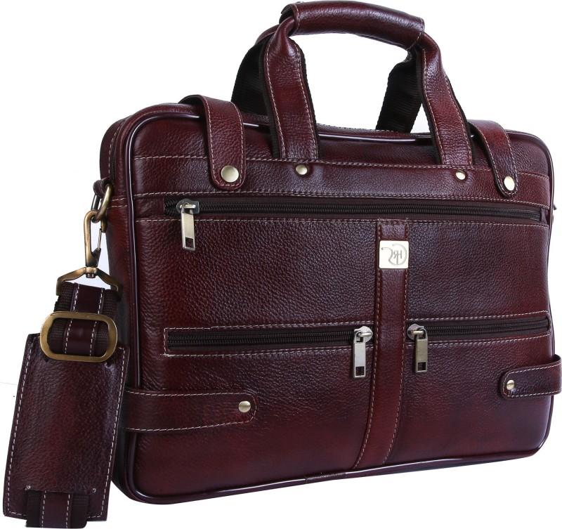 Rome Hunters 15.6 inch Expandable Laptop Messenger Bag(Brown)