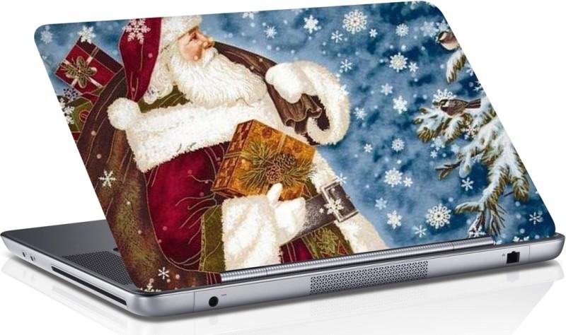 RADANYA Santa Claus Laptop Skin Vinyl Laptop Decal 15.6
