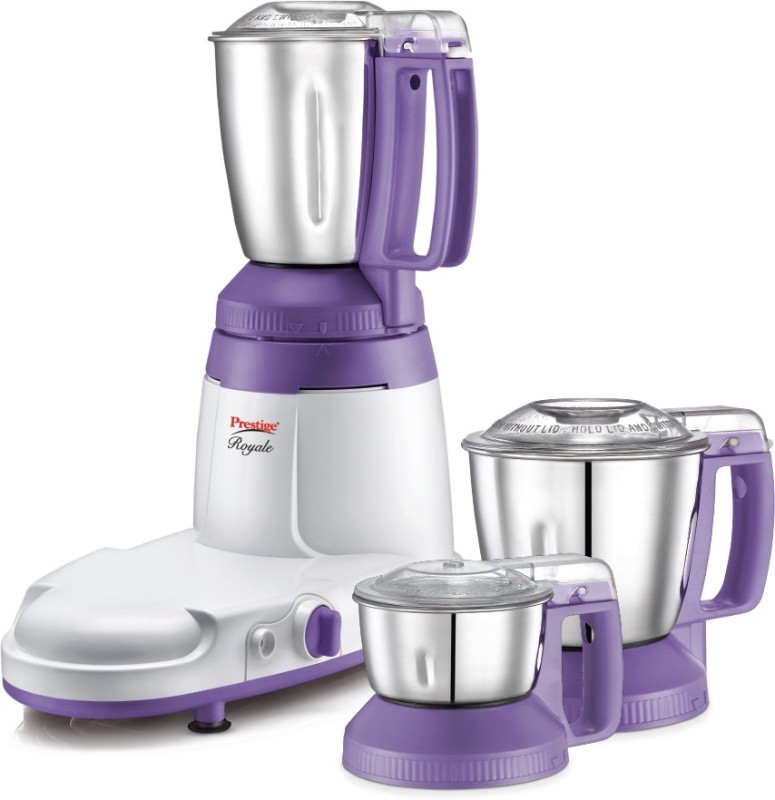 Prestige Royale 750 Mixer Grinder(Purple, 3 Jars)