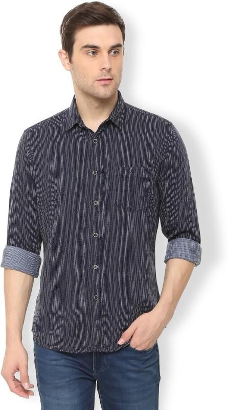 Van Heusen Men Printed Casual Dark Blue Shirt