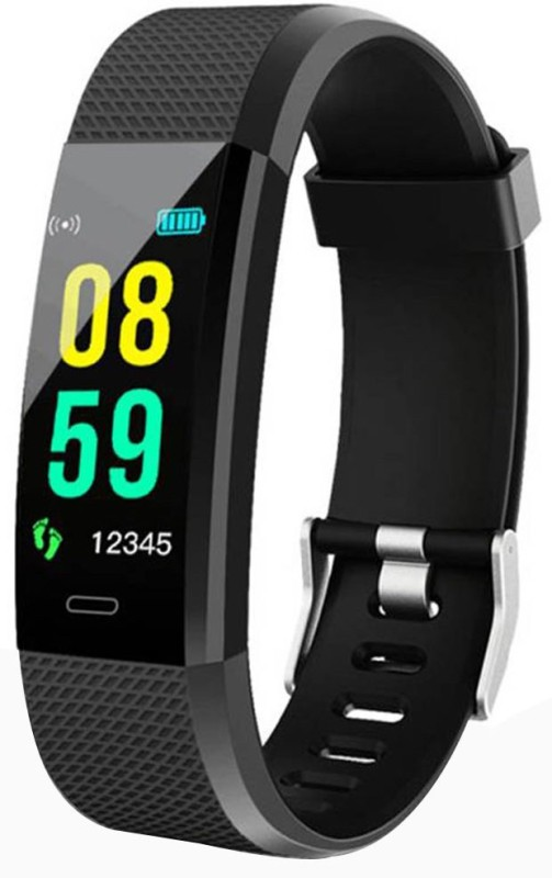 Bingo F0 Plus Fitness Smart Band(Black Strap, Size : Free)