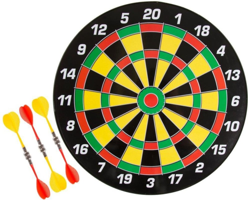 Bestie Toys Magnetic Dart Board Game Made of High Quality with 6 Darts (34.5cms) 35 cm Dart Board(Multicolor)