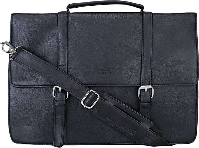 Bagsy Malone Men & Women Black Messenger Bag