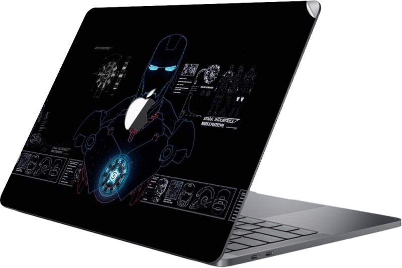 GADGETS WRAP MCBK-GW31038 - Printed Iron Man System Skin Top Only Macbook 15 inch Pro Retina Vinyl Laptop Decal 15