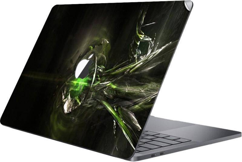 GADGETS WRAP MCBK-GW26451 - Printed Cool Green Skin Top Only 15 inch Touchbar Vinyl Laptop Decal 15