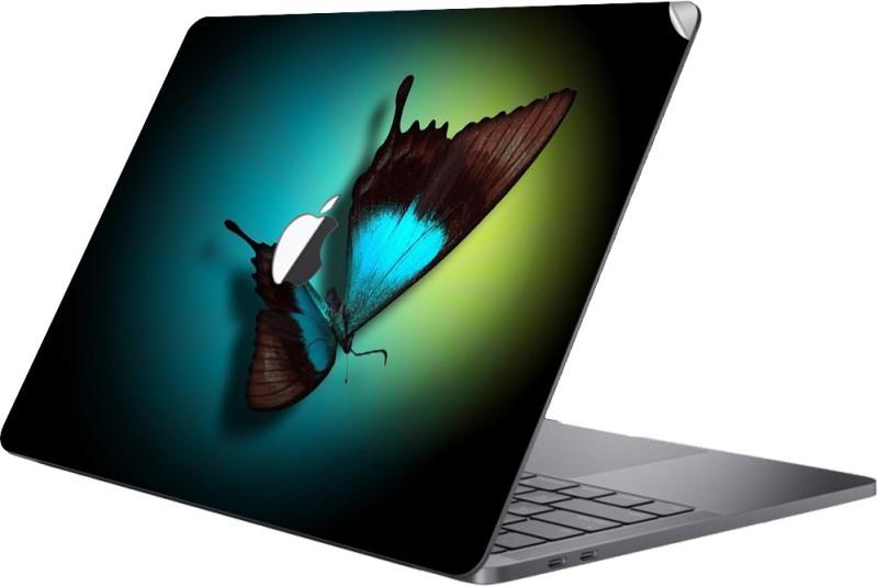 GADGETS WRAP MCBK-GW15286 - Printed Butterfly beat Skin Top Vinyl Laptop Decal 13