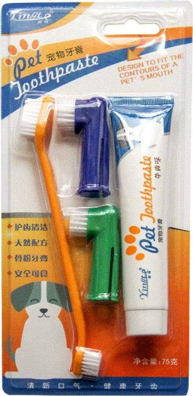 Jainsons Pet Products Toothbrush and Pet Toothpaste(Dog and Puppies)