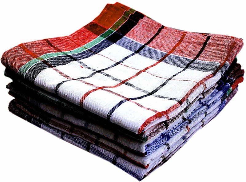 ankara Premium Quality, Highly Absorbent Big Size 20X20inch 100% Cotton Multipurpose Kitchen, Chapatis Napkin and cleaning, Cloth, Duster White Napkins(12 Sheets)