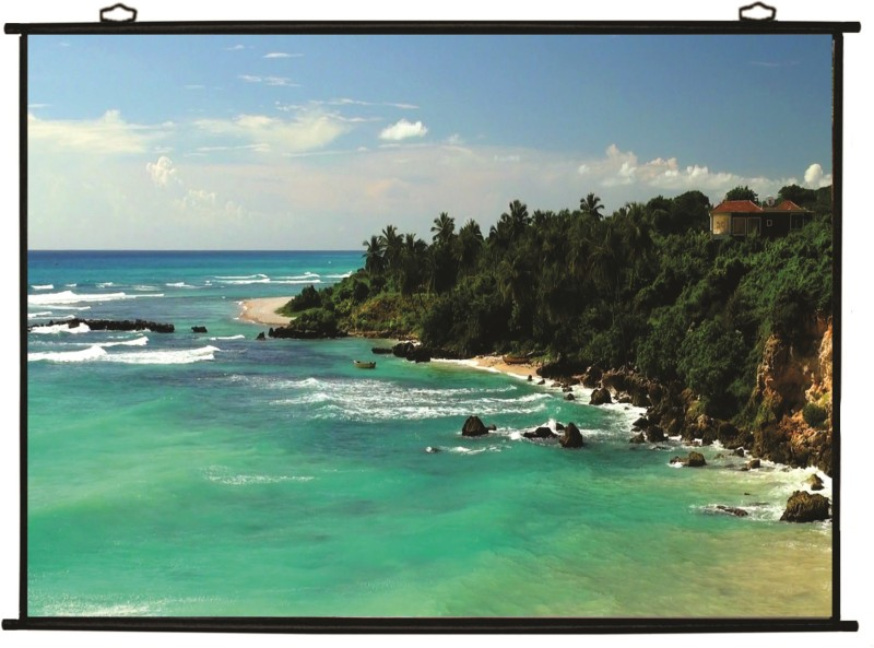 Technolite 7 Ft. x 4 Ft. 92 Inches Diagonal 16:9 Aspect Ratio Supporting UHD-3D-4K Ready Technology Universal Projector Screen (Width 204 cm x 115 cm Height)