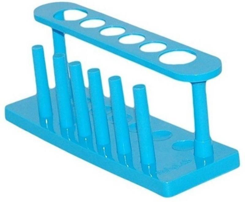 QUANTICO QUAN-115 Plastic Test Tube Rack(125ML Blue, White)