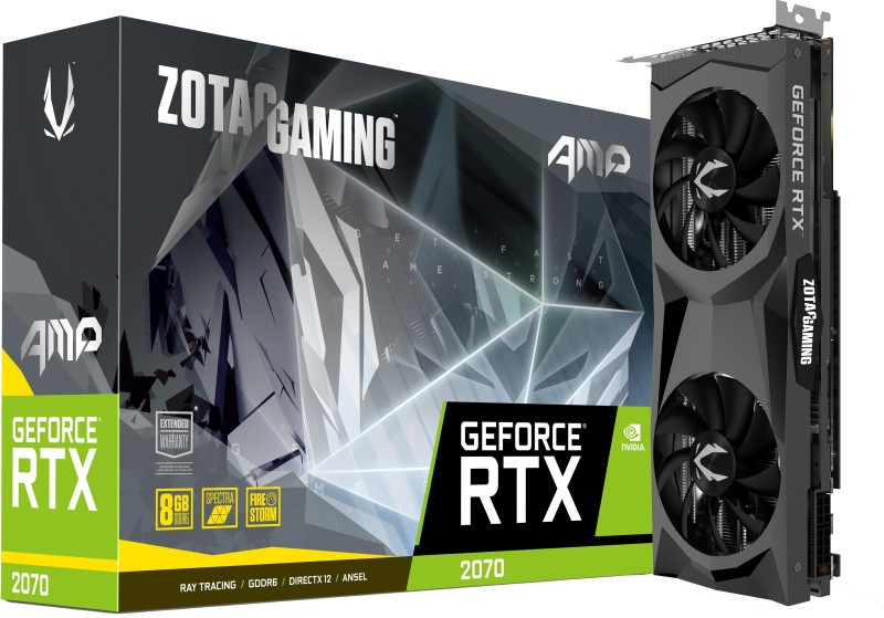 ZOTAC NVIDIA Gaming GeForce RTX 2070 AMP Edition 8 GB GDDR6 Graphics Card(Black)