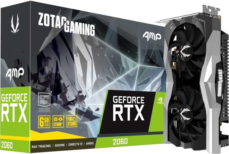 ZOTAC NVIDIA Gaming Geforce RTX 2060 6GB AMP Edition 6 GB GDDR6 Graphics Card(Black,Grey)