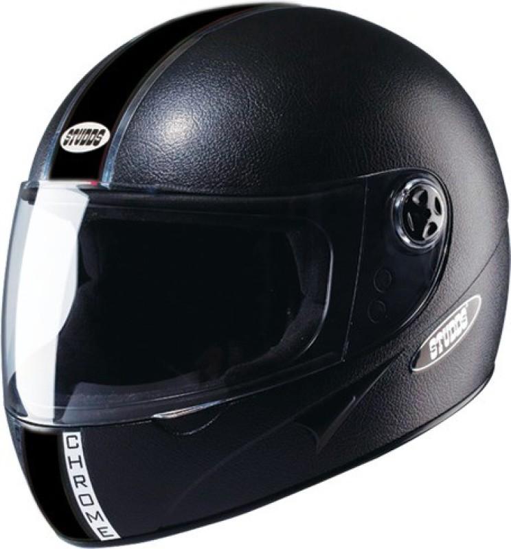 Studds chorme economy Motorsports Helmet(Black)