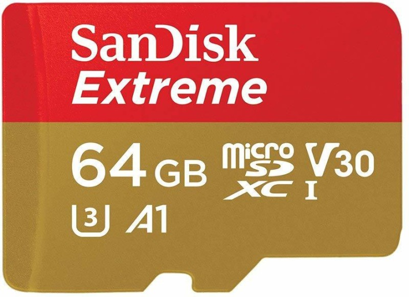 SanDisk Extreme 64 GB MicroSD Card UHS Class 3 100 MB/s Memory Card(With Adapter)