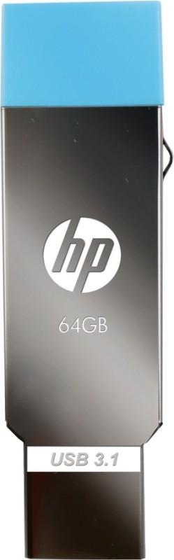 HP MM-OTG064GB-02P 64 GB Pen Drive(Silver, Blue)