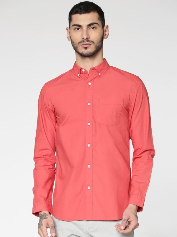 Jack & Jones Men Solid Casual Red Shirt
