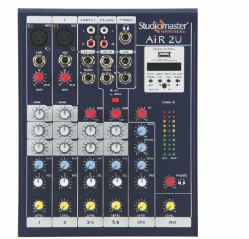 Studiomaster AIR 2U (2 channel) with Bluetooth & Echo Digital Sound Mixer