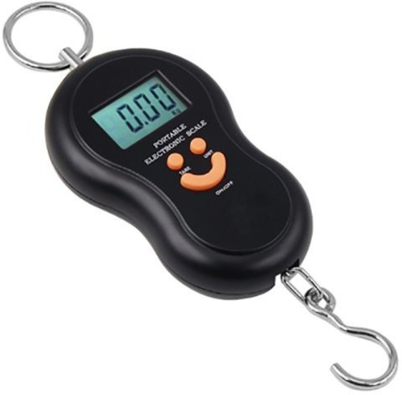 MOHAK 40kg Weight Capacity Battery Powered Electronic Portable Luggage Weighing Scale(Black)