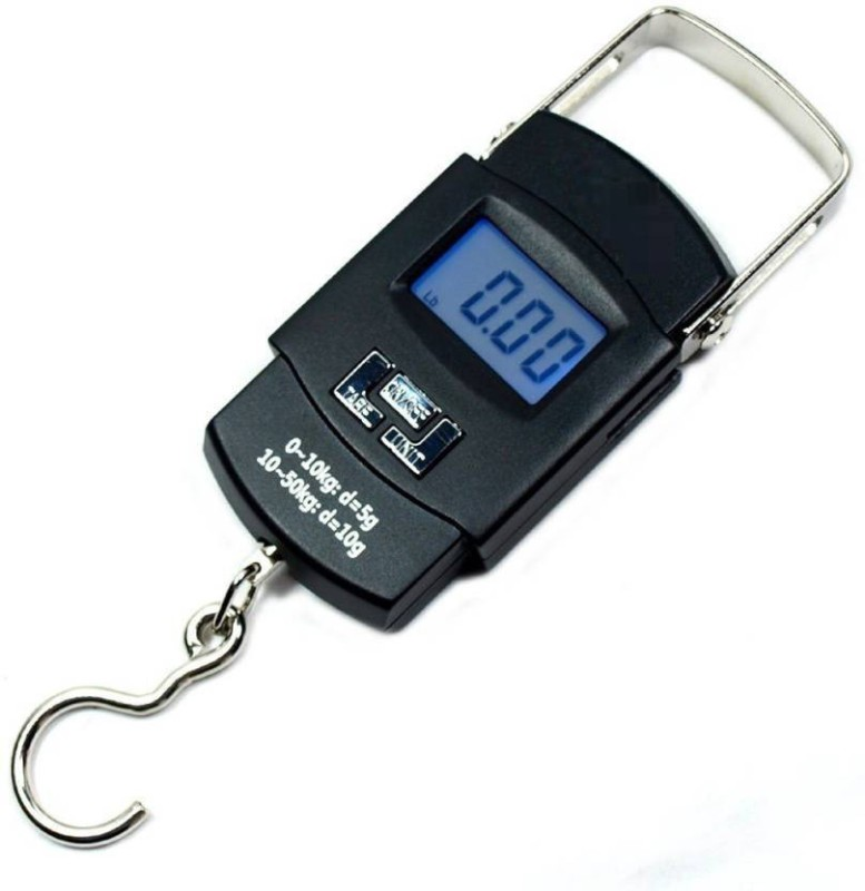 MOHAK Portable Electronic Balance Digital Fish Hook Hanging Scale Weighing Scale(Black)