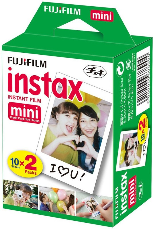 Fujifilm Instax Mini 20 Shots with 5 Colored Frames and 20 Colorful Sticker Instant Film Roll(Yes 800 ISO Pack of 3)