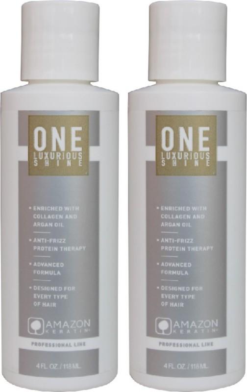 AMAZON KERATIN One Anti-Frizz Keratin Treatment (Pack of two)(236 ml)