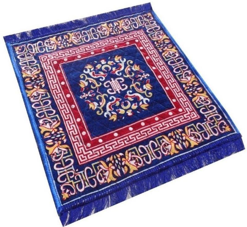 Kihome Velvet Prayer Mat(Blue, Small)