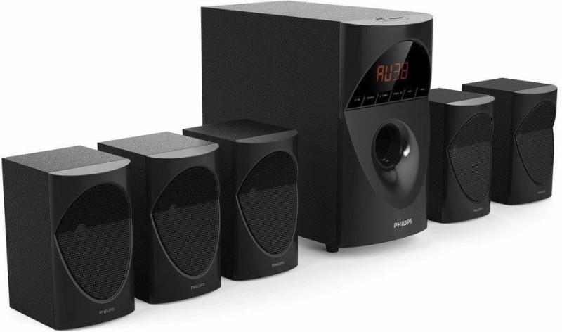 Philips in-SPA 5190B/94 Multimedia Speaker System (Black) 13 W Bluetooth Home Theatre(Black, 5.1 Channel)