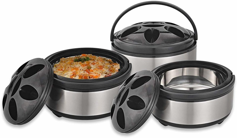 RAVENN Home & Kitchen Foodport Casserole Combo Set of 3 Pcs. (1.5, 2.5, 3.5 LTR.) - Gift for Valentine Day Pack of 3 Thermoware Casserole Set(1500 ml, 2500 ml, 3500 ml)