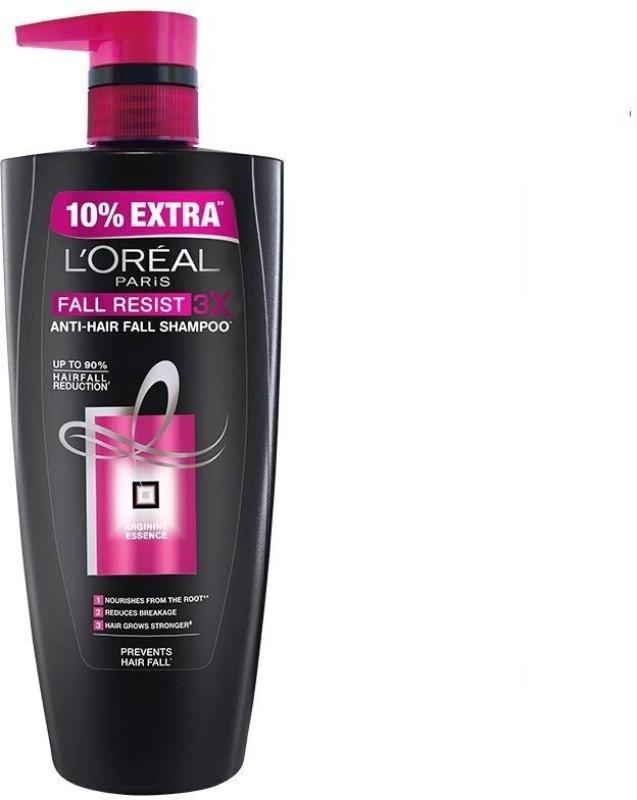 L'Oreal Paris Fall Repair 3X Anti Hair Fall Shampoo, 640ml+64ml(704 ml)