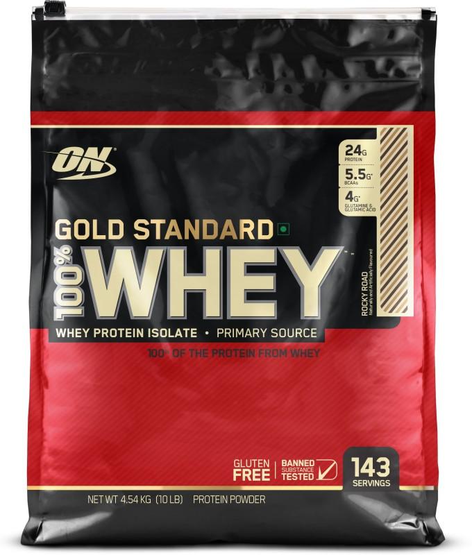 Optimum Nutrition Gold Standard 100% Whey Protein(4.54 kg, Rocky Road)